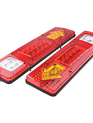 cheap -OTOLAMPARA RV 57W Trailer Tail Lights Red White-Amber Integrated Turn Signal Running Lamp for ATV Truck DC12V 2PCS
