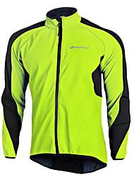 cheap -Nuckily Men's Cycling Jacket Elastane Bike Jacket Fleece Lining Windbreaker Jersey Thermal Warm up Windproof Waterproof Breathable Reflective Sports Patchwork Clothing Apparel Bike Wear / Long Sleeve