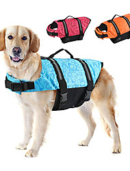 cheap -Dog Life Jackets, Reflective & Adjustable Preserver Vest with Enhanced Buoyancy & Rescue Handle for Swimming