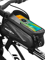 cheap -1.5 L Cell Phone Bag Bike Frame Bag Top Tube Touch Screen Portable Cycling Bike Bag EVA Bicycle Bag Cycle Bag Outdoor Exercise