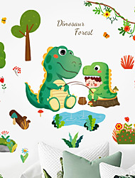 cheap -Cartoon Animals Trees Flowers Floral Plants Wall Stickers Bedroom Living Room Removable Pre-pasted PVC Home Decoration Wall Decal 1pc