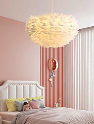cheap -LED Pendant Light 30/40/45/50/55/60/70 cm Single Design Pendant Light Metal Feather Artistic Nature Inspired 220-240V