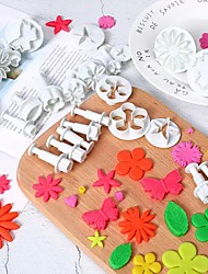 cheap -33-Piece Baking Tool Set Sugarcraft Cake Decorating Tools Handicraft Fondant Plunger Cutters Tools Cookie Biscuit Cake Snowflake Mold Set Baking Accessories