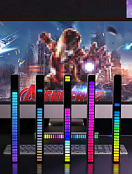 cheap -RGB Voice-Activated Pickup Rhythm Light Creative Colorful Sound Control Ambient Light with 32 Bit Music Level Indicator Car