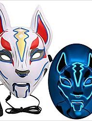 cheap -Fox LED Mask Night Light Cartoon Funny Decoration Mode Switching Halloween Christmas AA Batteries Powered 1pc