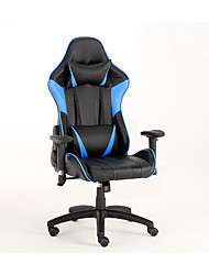 cheap -Gaming Chairs Office Swivel Chairs with headrest and Lumbar Pillow Blue-B