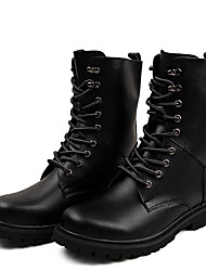 cheap -Men's Boots Combat Boots Vintage Classic Daily Nappa Leather Breathable Mid-Calf Boots Black Brown Fall