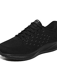 cheap -Men's Trainers Athletic Shoes Casual Daily Walking Shoes Mesh Black / Red Black Black / Blue Color Block Fall Spring