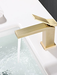 cheap -Gold/Chrome/Matte Black Bathroom Faucet Single Hole Bathroom Sink Faucet Single Handle Bathroom Faucet Vanity Faucet