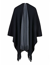 cheap -Autumn and winter European and American double-sided scarf shawl dual women air conditioning anti-cashmere tassel thick shawl 130x150CM