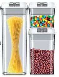 cheap -Three-piece Sealed Storage Tank Refrigerator Storage Box Food Grade Transparent Plastic 0.5L1.2L1.9L