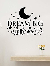 cheap -wall sticker decal, dream big little one moon star wall sticker kids room nursery decal home decor