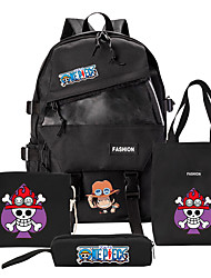 cheap -Bag Inspired by One Piece Portgas D Ace Cosplay Anime Cosplay Accessories Laptop Backpack College Student Gym Bag Unisex Women's Men's