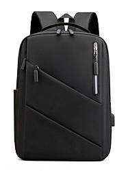 cheap -Commuter Backpacks Nylon Fiber Solid Color for Men for Women for Business Office