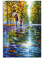 cheap -Oil Painting Handmade Hand Painted Wall Art July And August Start Of School Season Gift Home Decoration Decor Stretched Frame Ready to Hang