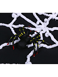 cheap -Halloween Props Ghost Festival Spider Web Woolen Spider Web Black White Spider Web 1.5/3 Meters 1pc