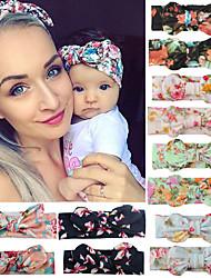 cheap -8pcs Mama Baby Headwear Bowknot Elastic Headbands For Women Kids Tuban Baby Hair Hair Accessories