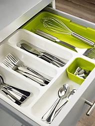 cheap -Retractable Kitchen Drawer Sorting Box, Cutlery Storage Divider, Kitchen Cabinet Knife, Fork, Chopsticks, Spoon Rack