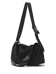 cheap -Women's Bags PU Leather Tote Zipper Fashion Daily Date Lace Handbags Baguette Bag Black