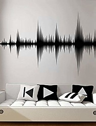 cheap -audio wave wall decal sound wave wall sticker recording studio music producer room decor bedroom wallpaper removable 90 x 57 cm