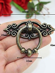 cheap -hardware antique alloy handle, retro drawer pull ring, cabinet handle, wardrobe ring, home improvement hardware