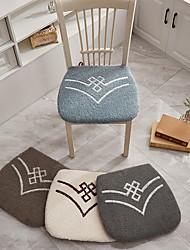 cheap -Floor Pillow Seat Cushion Lamb Wool Solid Color Chair Cushion Seat Cushion Home Office Seat Bar Dining Chair Seat Pads Garden Floor Cushion Home Office Bedroom Home Use Dining Table Chair Cushion