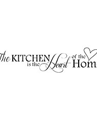 cheap -removable kitchen heart home decal wall stickers vinyl bathroom art decor 1pc