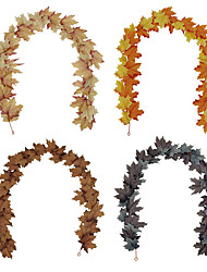 cheap -Fall Wreaths Nordic Style Autumn Home Decoration Thanksgiving Easter Maple Vine Party Decoration 180cm for Home Decor Farmhouse Indoor Outdoor Window Autumn Thanksgiving Decoration