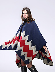 cheap -Autumn and winter women imitation cashmere plus thick warm scarf air conditioning between the big open fork shawl multi-purpose cloak 130x150CM