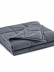 cheap -california king size weighted blanket | 90''x108'',25lbs | perfect for couples | premium cotton material with glass beads | dark grey