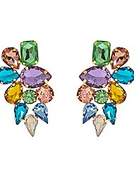 cheap -bridal cluster rhinestone stud earrings, marquise colorful stones studded candy women statement stud earrings fashion jewelry