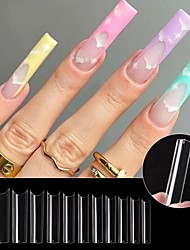 cheap -240 Pcs/Set Water Pipe Nail Tips for Extension Fashion Long Fake Nails Accessories for DIY Manicure Design