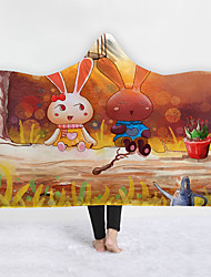 cheap -New Hooded Blankets New Products Home Blankets Children Blankets Thicker Blankets Double Blankets Cute Cartoon Series
