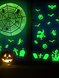 cheap -Halloween Luminous Horror Ghost Spider Web Holiday Wall Stickers Background Wall Creative Decoration Wall Stickers