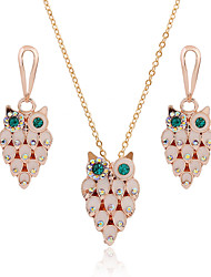 cheap -Jewelry Set Cubic Zirconia Owl Fashion Classic Alloy Gold 50 cm Necklace Jewelry For Street Gift