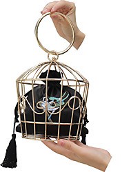 cheap -Women's Bird Cage Evening Bag Clutch Party Wedding Wedding Party  Black Red