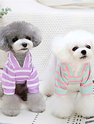 cheap -Dog Cat Sweater Stripes Adorable Cute Dailywear Casual / Daily Winter Dog Clothes Puppy Clothes Dog Outfits Warm Purple Green Costume for Girl and Boy Dog Plush S M L XL XXL