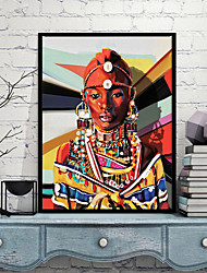 cheap -Wall Art Canvas Prints Painting Artwork Picture Portrait Beauty Gold Home Decoration Decor Rolled Canvas No Frame Unframed Unstretched