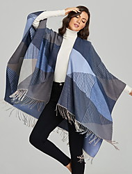 cheap -Factory Direct Women'S Scarf Shawl Simple Tassel Slit Imitation Cashmere Cape Air Conditioning Warm Blanket 135*175cm