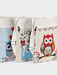 cheap -Canvas Shoulder storage bag back to school Halloween goody bag colorful cute animals zipper grocery shopping cloth book tote