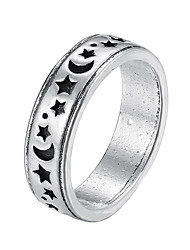 cheap -Ring Vintage Style Silver Alloy Moon Star Stylish Rustic / Lodge Simple 1pc One Size