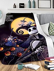 cheap -Cotton Polyester Blend Halloween Throw Blanket All Season For Couch Chair Sofa Bed PicnicSoft Fluffy Warm Cozy Plush Autumn Winter
