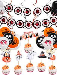 cheap -Halloween Balloon Party Decoration Arrangement Ghost Festival Ghost 12 Inch Latex Skull Pumpkin Bat Aluminum Foil Balloon