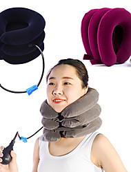 cheap -Cervical Vertebra Traction Apparatus Inflatable Massager Cervical Vertebra Cervical Bracket Domestic Medical Three-Layer Full Velvet Cervical Traction Device