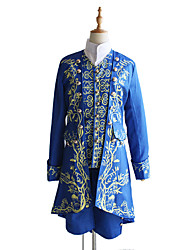 cheap -Prince Adam Coat Cosplay Costume Outfits Men's Movie Cosplay Cosplay Blue Coat Vest Blouse Halloween Carnival Masquerade Polyester / Pants / Scarf
