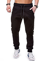 cheap -Men's Stylish Casual Cargo Streetwear Comfort Outdoor Jogger Tactical Cargo Cotton Casual Daily Pants Solid Color Full Length Classic Pocket Multiple Pockets ArmyGreen Gray Khaki Black Navy Blue
