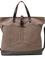 cheap -Women's Bags Canvas Top Handle Bag Zipper Solid Color Daily Canvas Bag Handbags Blue Fuchsia Gray Khaki