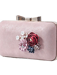 cheap -Women's Bags Polyester Evening Bag Chain Plain Party / Evening Retro Evening Bag Chain Bag Yellow Blushing Pink White