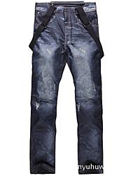 cheap -Men's Ski / Snow Pants Ski Bibs Thermal Warm Waterproof Windproof Breathable Winter Bib Pants for Snowboarding Ski Mountain / Cotton