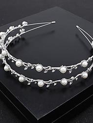 cheap -Romantic Wedding Alloy Headbands / Headdress / Headpiece with Imitation Pearl / Crystals / Crystals / Rhinestones 1 PC Wedding / Special Occasion Headpiece